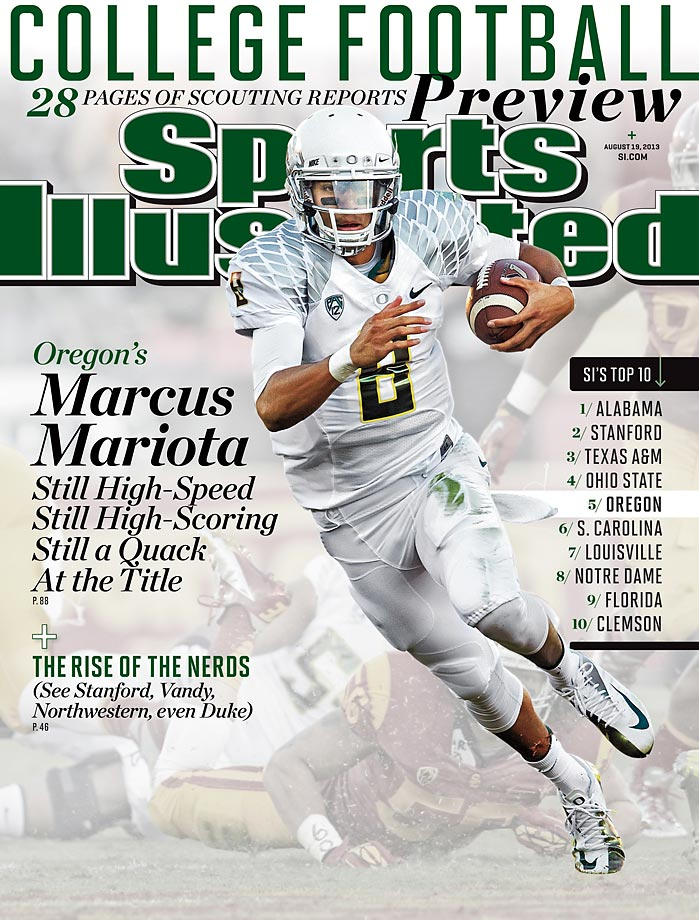 Marcus Mariota graces the SI cover this week for the fifth time.   Here's a look back at all five, starting with the first from Aug. 19, 2013.