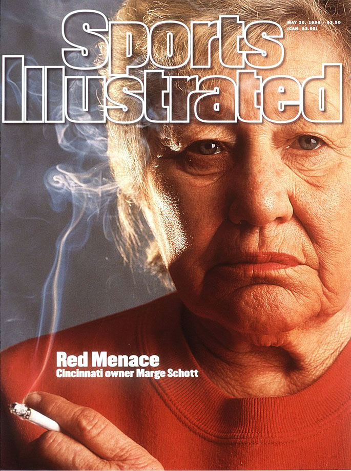 "Although she had previously received a hefty fine ($250,000) for her anti-Semitic, racist and homophobic comments before, Marge Schott's latest tirade in 1996 was all MLB could take. The final blow came when the Cincinnati Reds owner spoke favorably of Adolf Hitler, saying he ""was good in the beginning, but went too far."" In the same month, Schott was quoted in a Sports Illustrated article as having spoken in a ""cartoonish Japanese accent"" while describing her meeting with the Japanese prime minister. She wasn't reinstated until 1998."