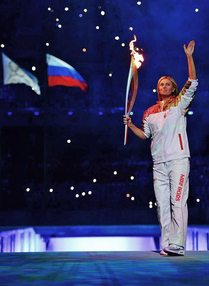 Maria Sharapova was one of the torch bearers during the Opening Ceremonies.