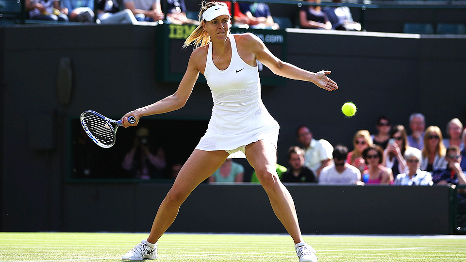 Maria Sharapova lost a total of four games in her first two matches at Wimbledon.