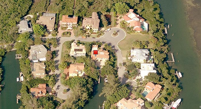 Maria Sharapova's house in Longboat Key, Florida.