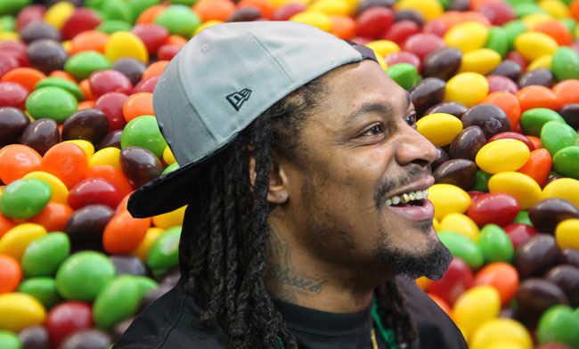 Seattle Seahawks running back Marshawn Lynch.
