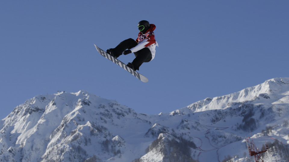 Canada's Max Parrot leads qualifying in the slopestyle event.