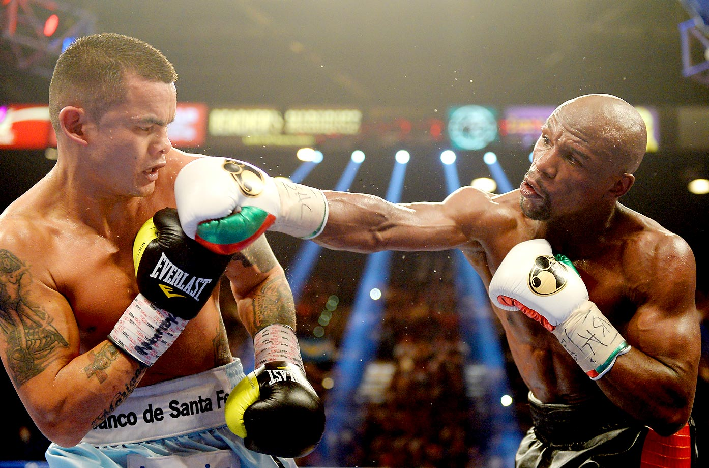 Floyd Mayweather ran his record to 47-0 with a tougher-than-expected fight against Marcos Maidana. Two ringside judges scored it 116-111 for Mayweather, while the third had it 115-112.
