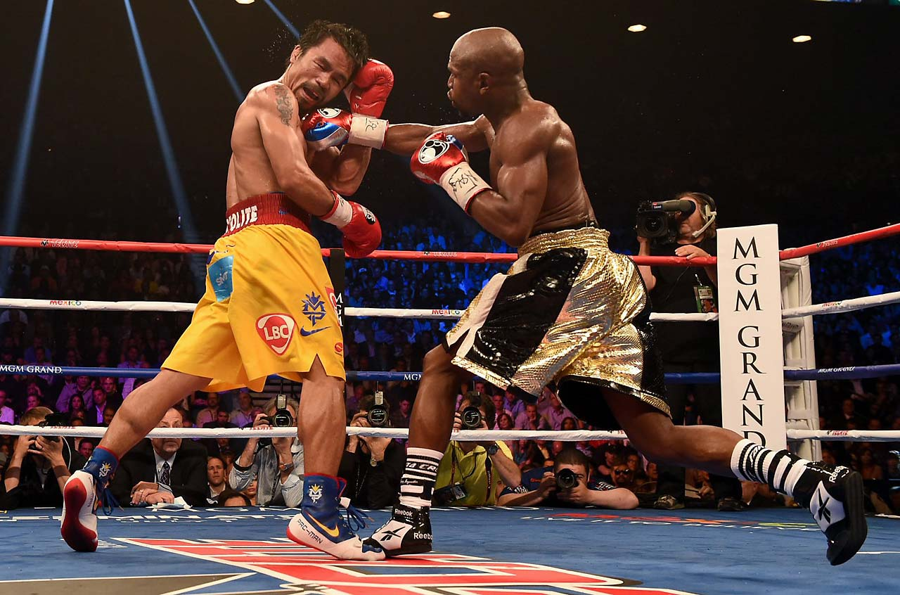 Two of the judges scored the fight 116-112 for Mayweather, while the other judge scored it 118-110.