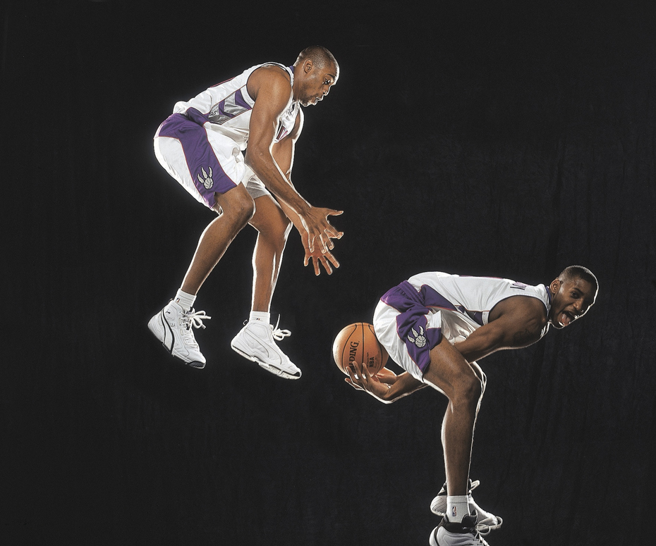 Tracy McGrady and Vince Carter :: Michael O'Neill/SI