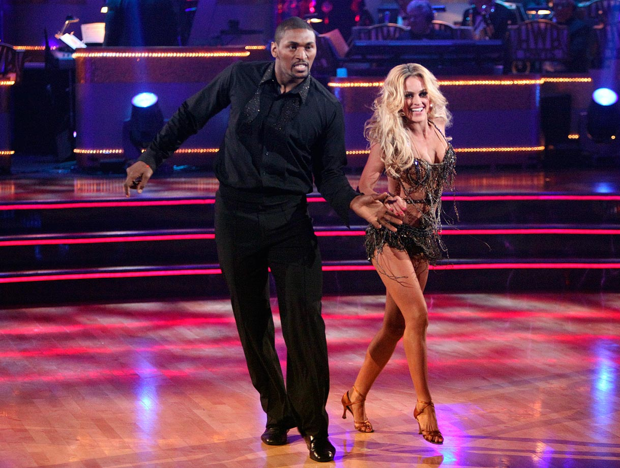 Los Angeles Lakers small forward Metta World Peace finished in last place with dancing partner Peta Murgatroyd in Season 13.