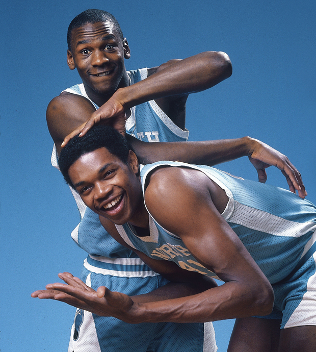 Michael Jordan and Sam Perkins (1983) :: Lane Stewart/SI