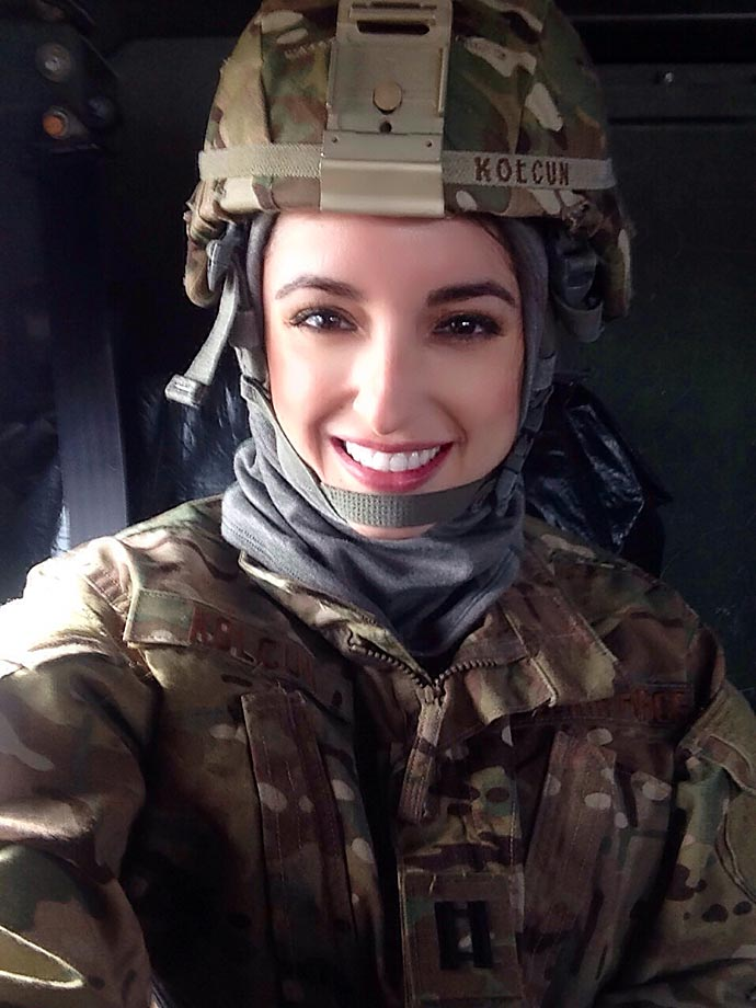 She is currently stationed in Hawaii where she works as a health administrator in the Medical Service Corps.