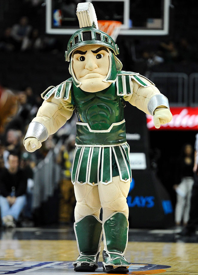 Because Sparty spawned one of the best basketball GIFs ever created, just shaking his head.
