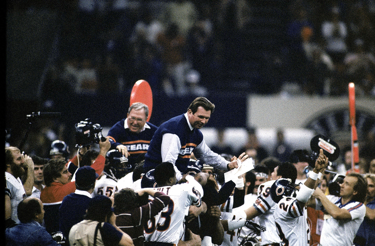 Ditka and Buddy Ryan both got rides off the field after the Super Bowl XX win, emblematic of the division of power and loyalties on that colorful team.