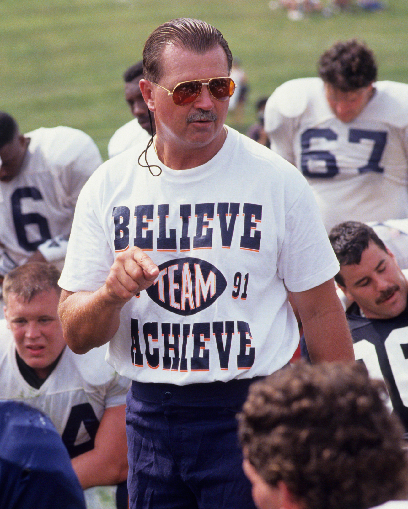 Ditka often wore his emotions on his sleeve, and his philosophy on his chest.