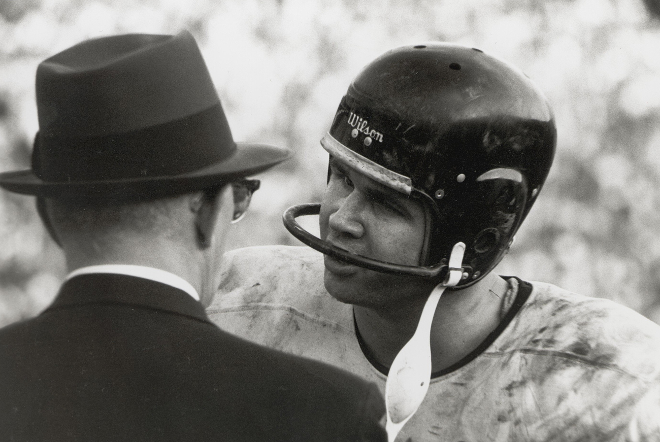 Ditka consults with Halas on the sideline in 1961, his rookie year. The two clashed often but developed an abiding respect.