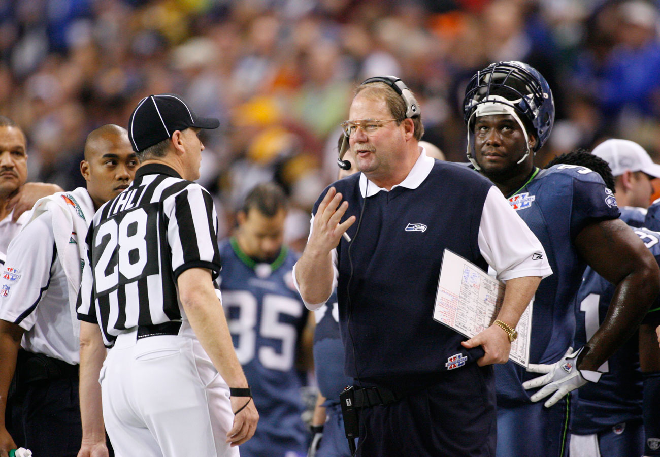 Holmgren's comments after the game fed the narrative about blown calls.