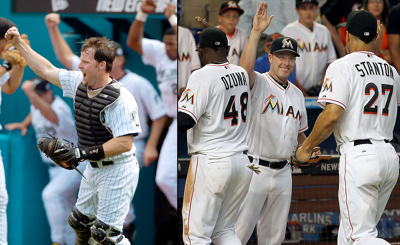 As a catcher, Mike Redmond played seven years for the Marlins, five years for the Twins and one year with the Indians to finish his career. He made his managerial debut in 2013 with Miami at age 42, and finished the year 62-100 with the club with which he once played.