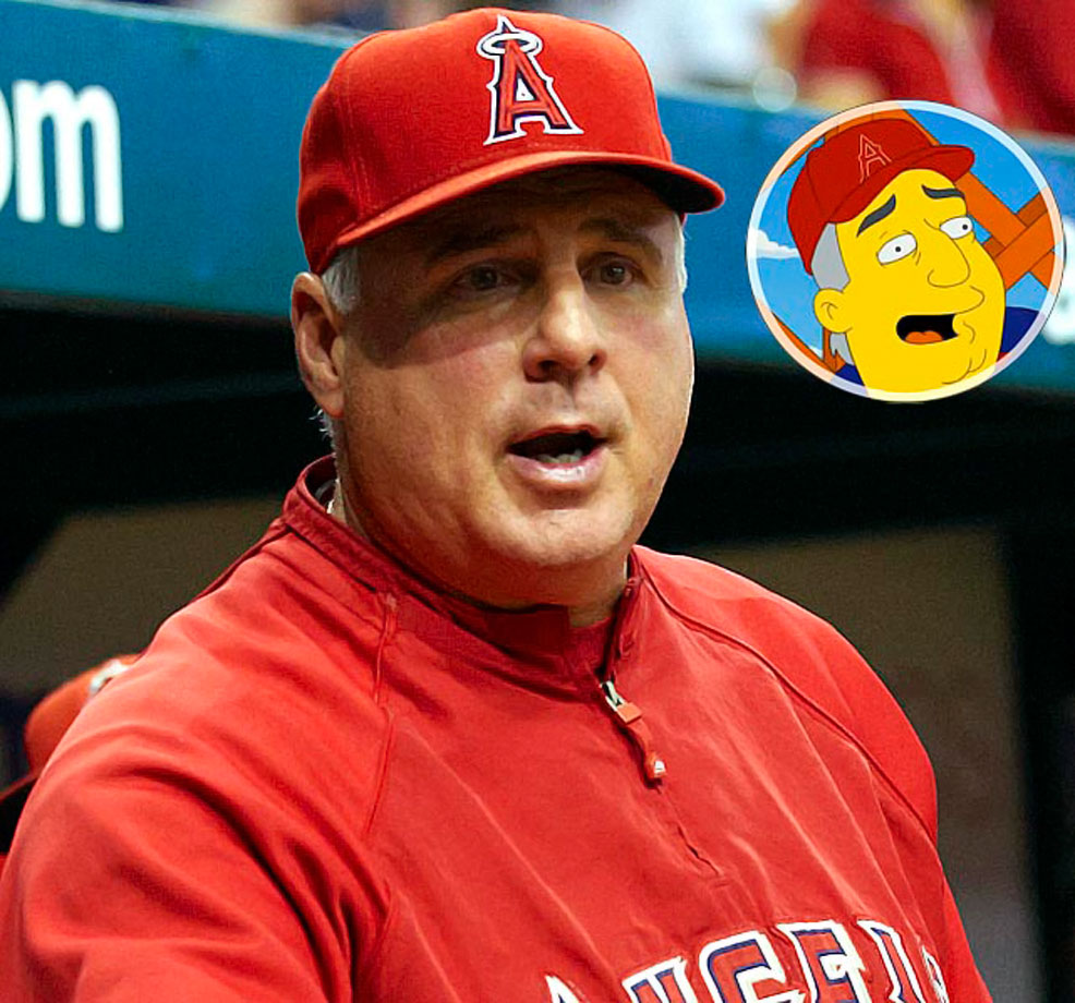 Memorable Moment — Marge: ''Mike Scioscia! Didn't you get radiation poisoning working at the Springfield nuclear plant?'' Scioscia: ''I sure did, and it gave me super managing powers. I also demagnetize credit cards.''