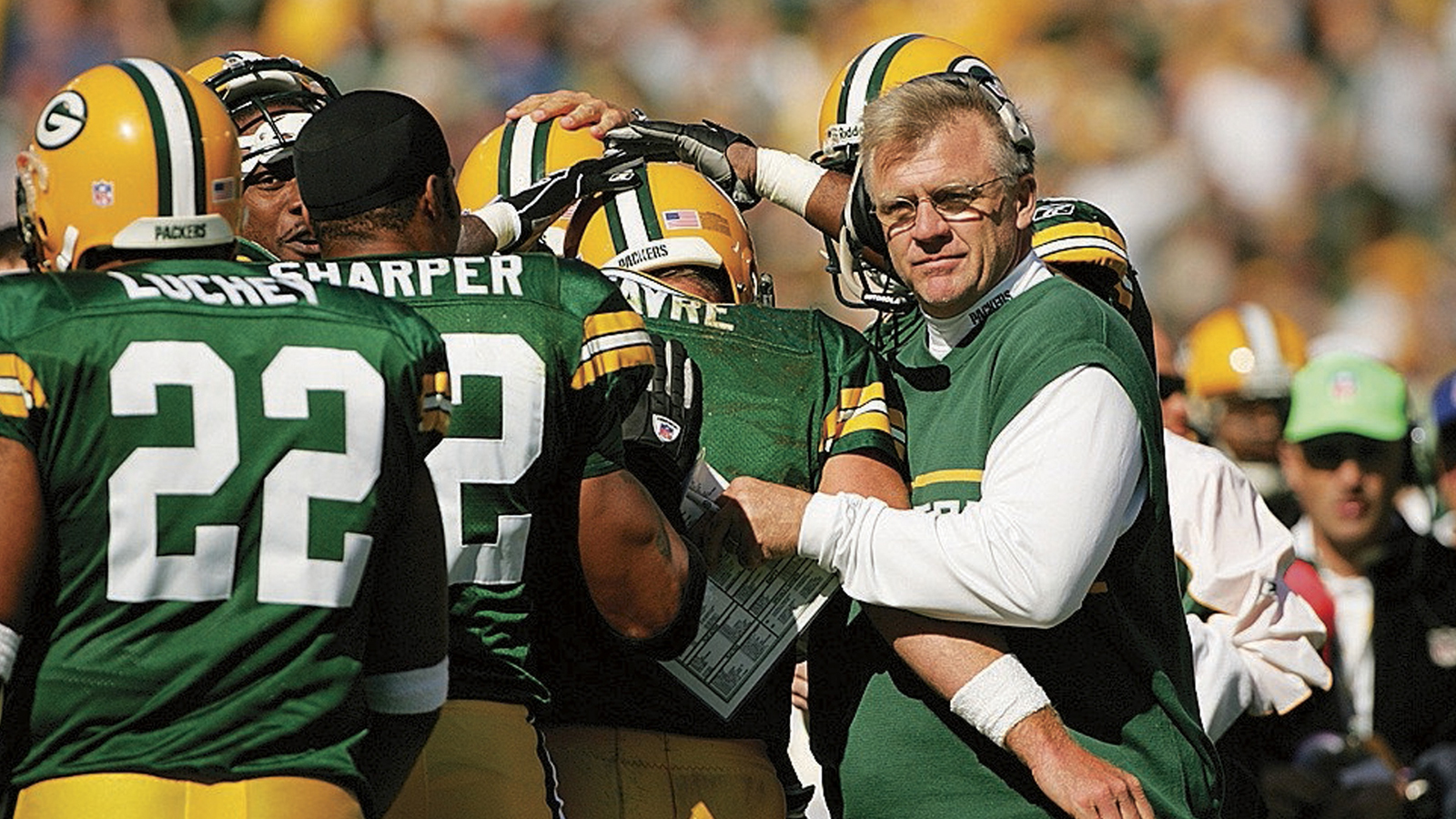 Sherman went 57-39 and won three division titles in six seasons coaching the Packers. He was fired after a 4-12 season in 2005, the Pack's first losing campaign since 1991. (Photo: John Biever for Sports Illustrated)