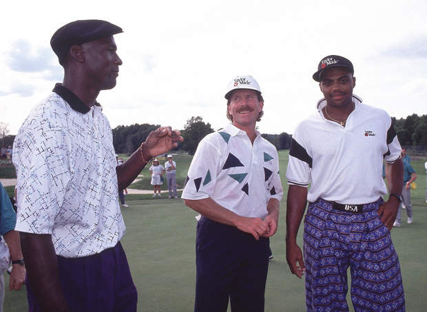 Mike Schmidt, Michael Jordan, and Charles Barkley (1990) :: George Tiedemann/SI
