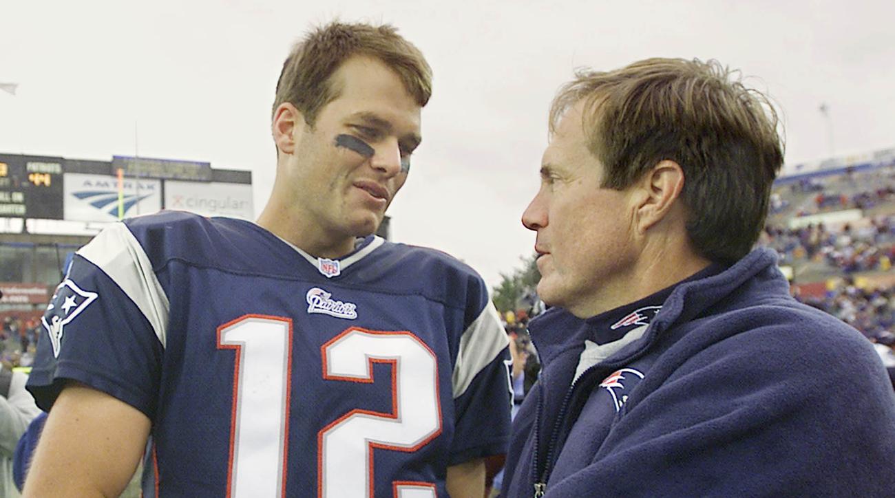 Bill Belichick and Tom Brady, September 2001.