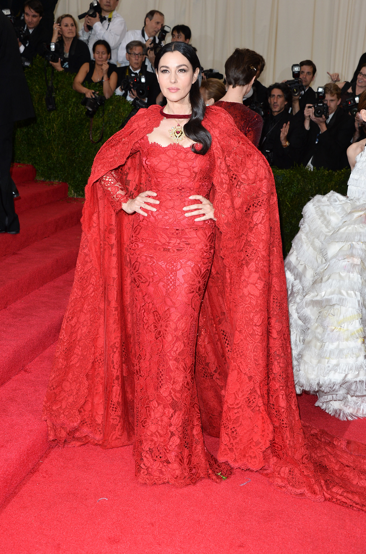 At the Met Gala, 2014