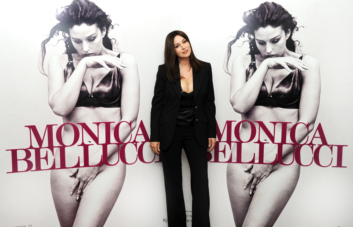 Promoting her photographic book, Monica, 2010
