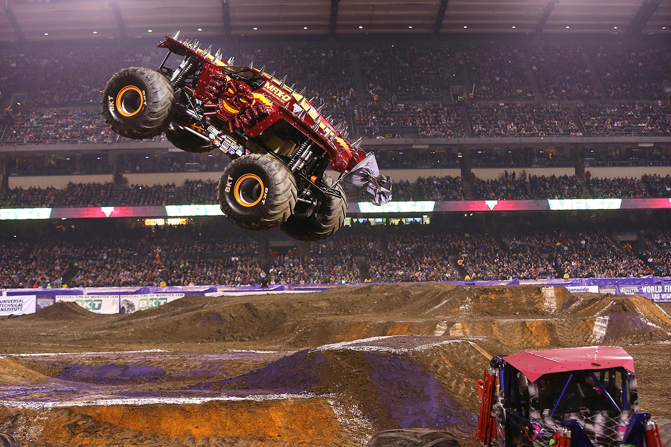 Monster Jam's 'Max-D' won both competitions at Monster Jam in Anaheim.
