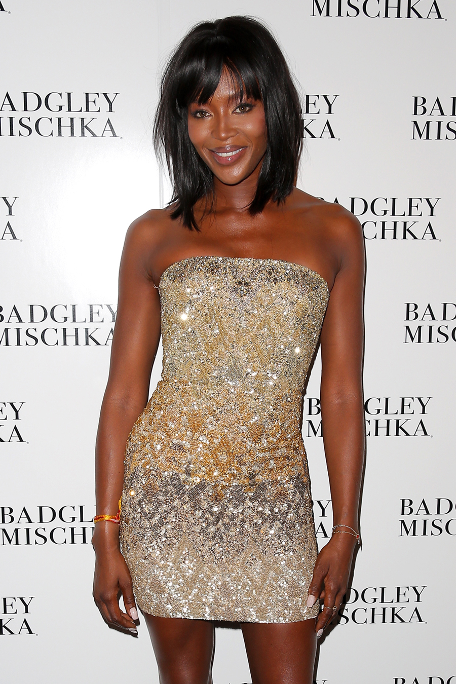 Naomi Campbell at Badgley Mischka