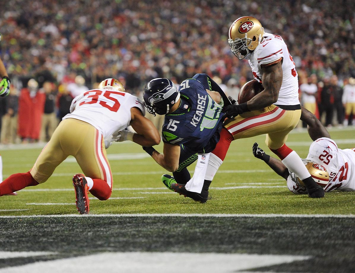 The NaVorro Bowman rule allows video reviews on plays with a recovery of a loose ball on the field, even though the play may have been whistled dead. In Bowman's case, he clearly stripped and recovered this ball on a 3rd-and-goal play in the 2013 NFL Championship game. However, an official ruled that Jermaine Kearse maintained possession. Under the old rules, the play couldn't be reviewed or overturned.