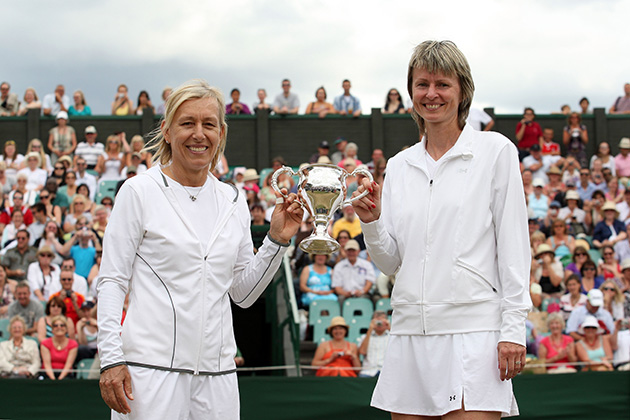 Navratilova and Sukova teamed up for the ladies' invitation doubles at Wimbledon in 2013.