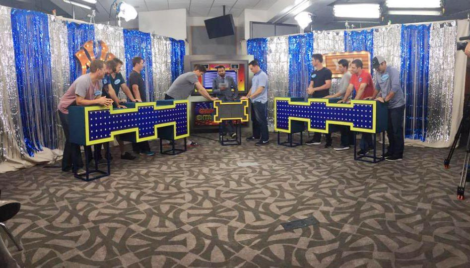 The Yankees got players together to play Family Feud.
