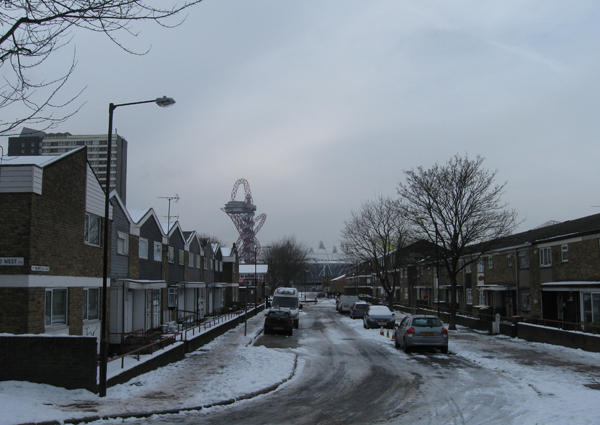 The Olympic Park also bumps up against Carpenter's Estate in the borough of Newham.