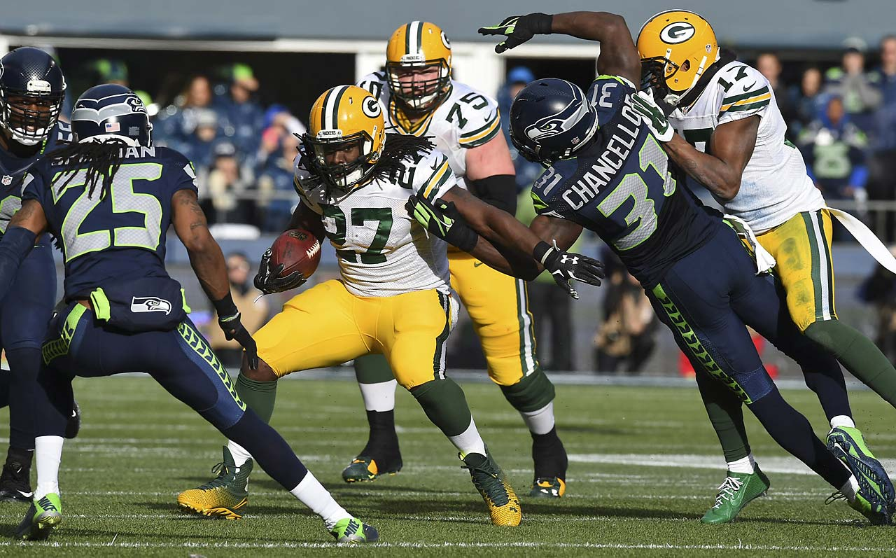 Eddie Lacy ran for 73 yards on 21 carries.