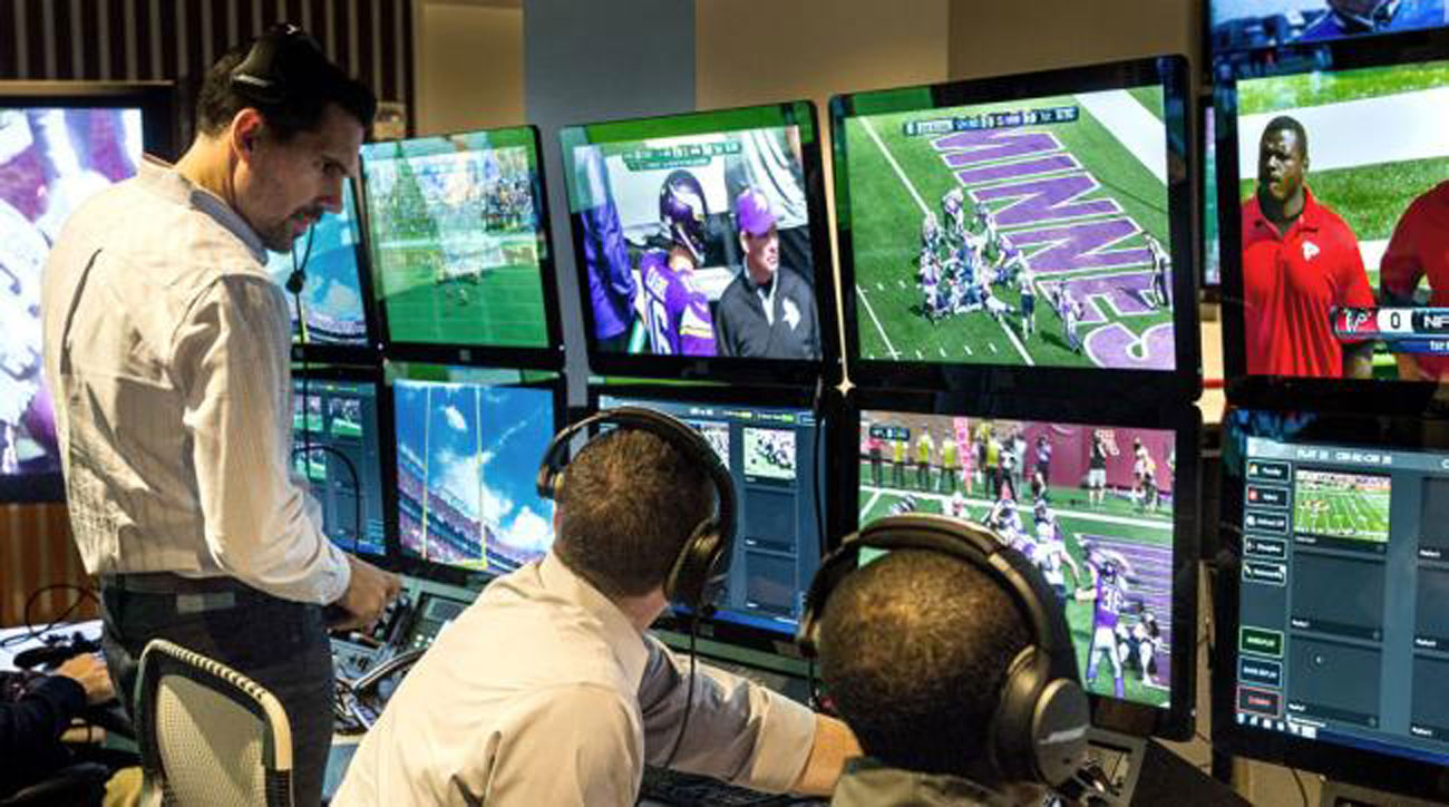 Dean Blandino in the New York officiating command center.