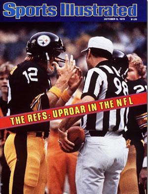 Referee uproar, circa 1978.