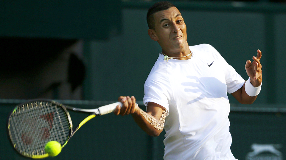 Nick Kyrgios knocked out Rafael Nadal to reach the quarterfinals at Wimbledon.