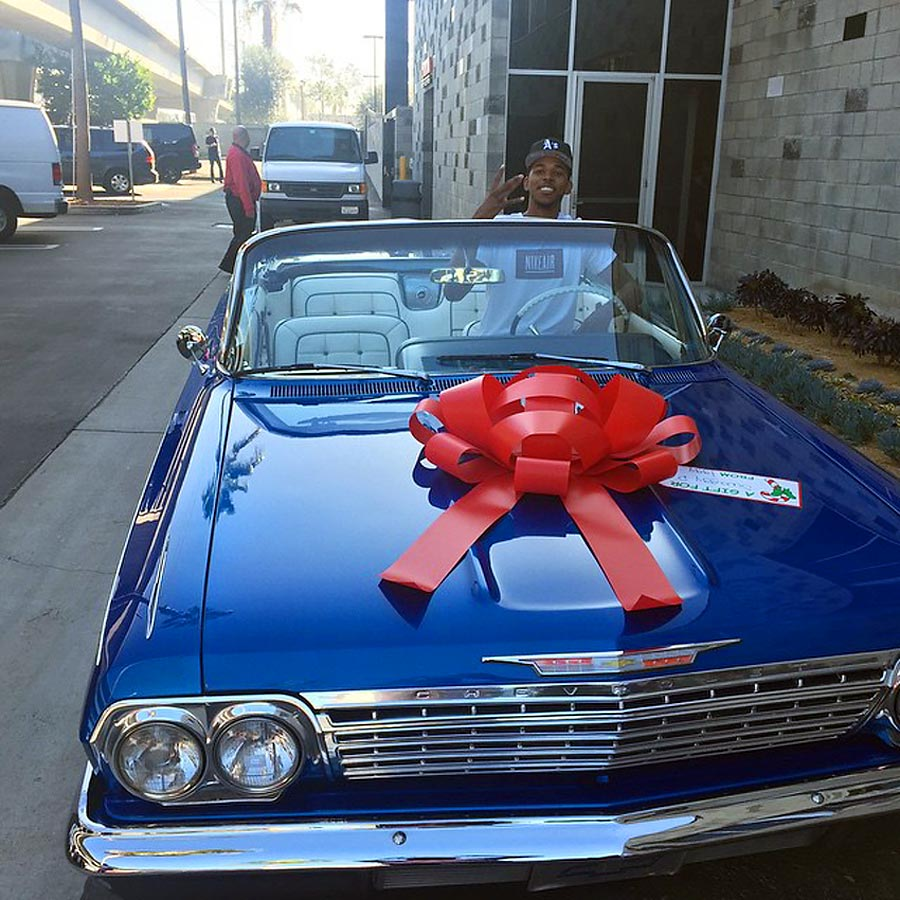 Iggy Azalea gave Nick Young a classic 1962 Chevy Impala for Christmas in 2014.