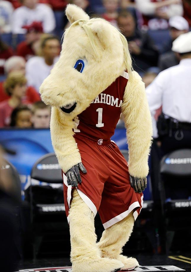 No. 15: Oklahoma has a dynamic duo of mascots—Boomer and Sooner. The Welsh ponies exist both in real life and in costumes, the latter of which wear Oklahoma gear and are always smiling.