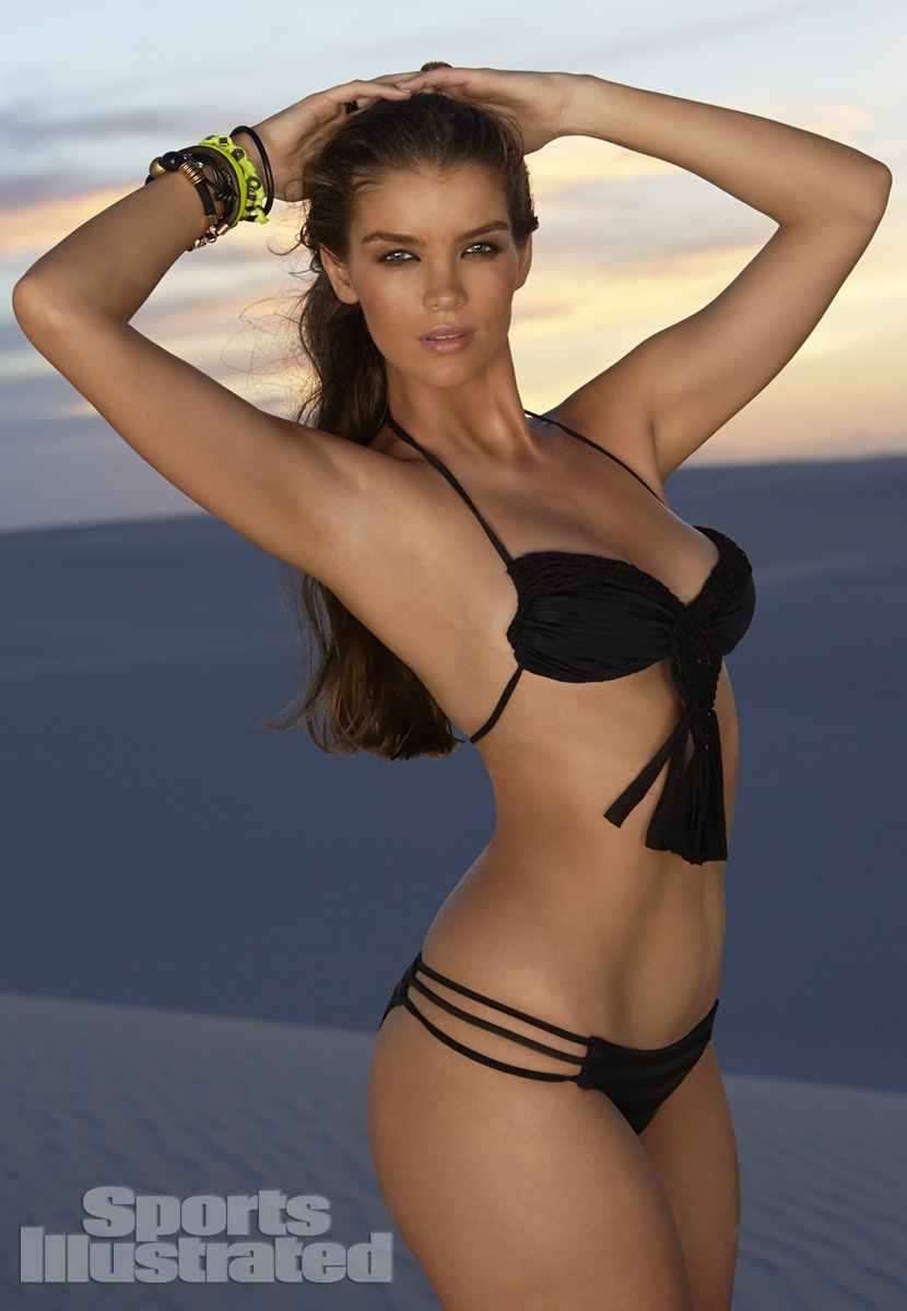 Natasha Barnard was photographed by Raphael Mazzucco in Brazil. Swimsuit by Tyler Rose Swimwear.