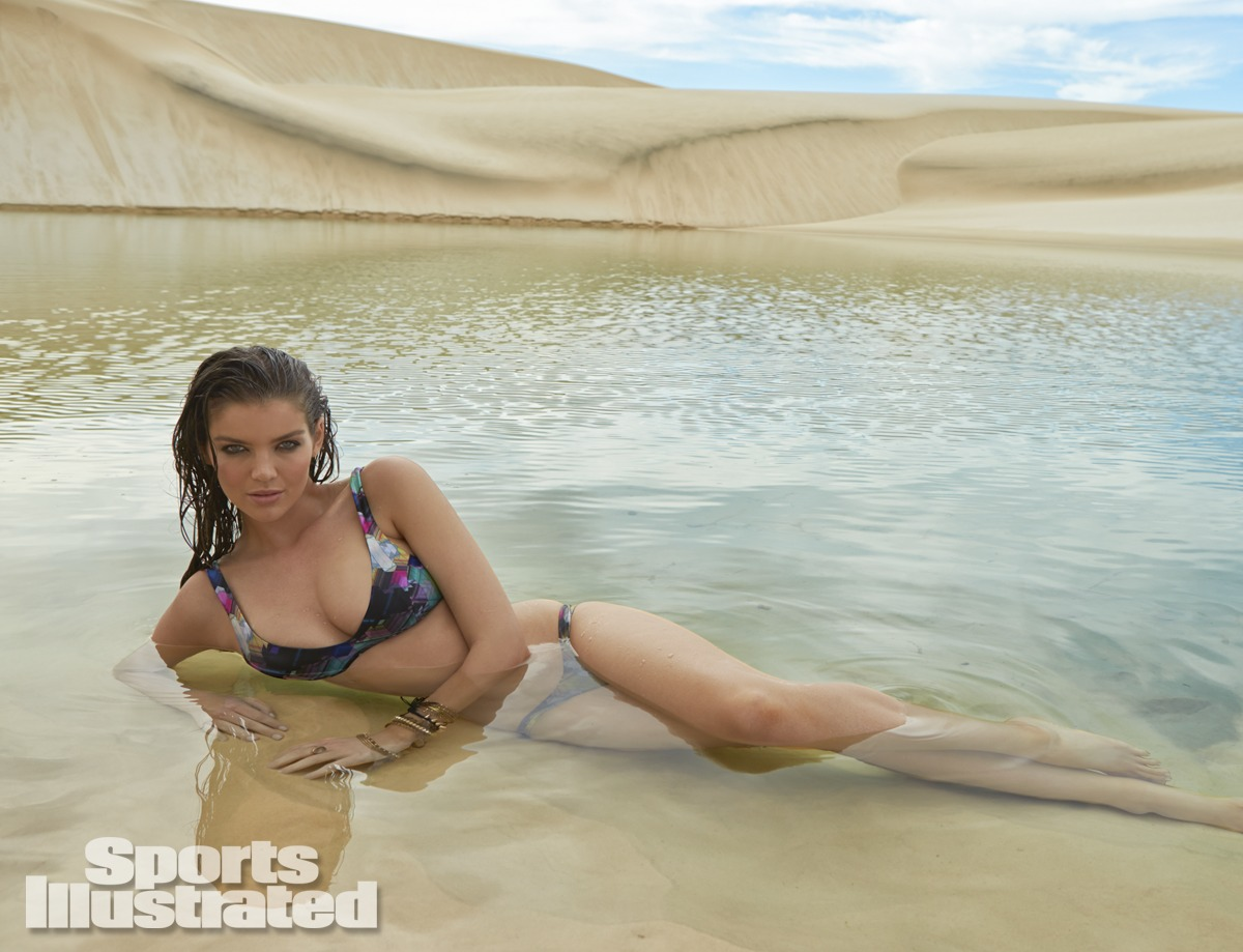 Natasha Barnard was photographed by Raphael Mazzucco in Brazil. Swimsuit by Zimmermann.