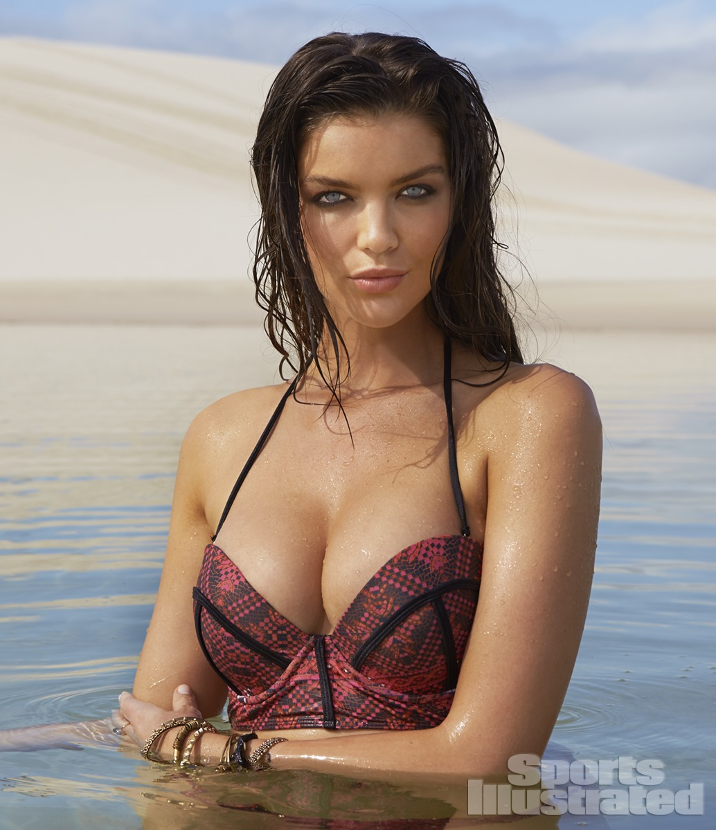 Natasha Barnard was photographed by Raphael Mazzucco in Brazil. Swimsuit by Amore & Sorvete.