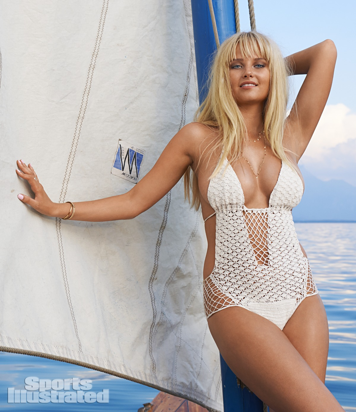 Genevieve Morton was photographed by Yu Tsai in Switzerland. Swimsuit by Beauty & the Beach.