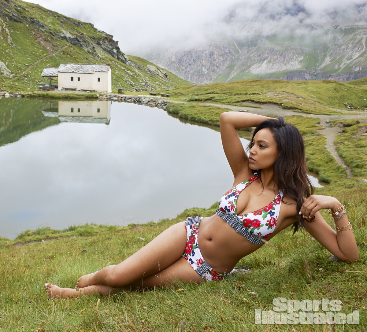 Ariel Meredith was photographed by Yu Tsai in Switzerland. Swimsuit by Pret-A-Surf.