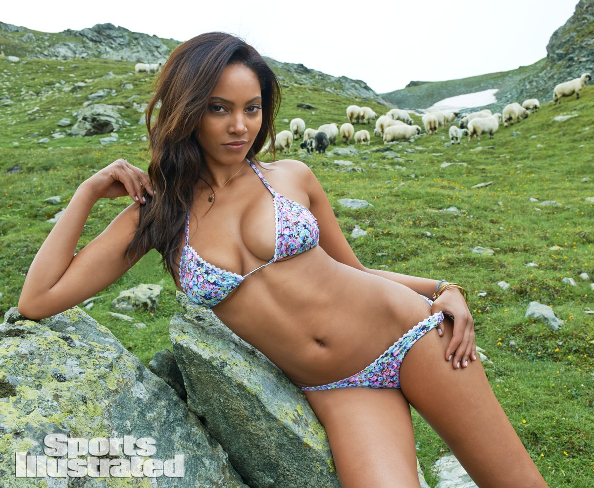 Ariel Meredith was photographed by Yu Tsai in Switzerland. Swimsuit by Syrup Swimwear by Aaron Fust.