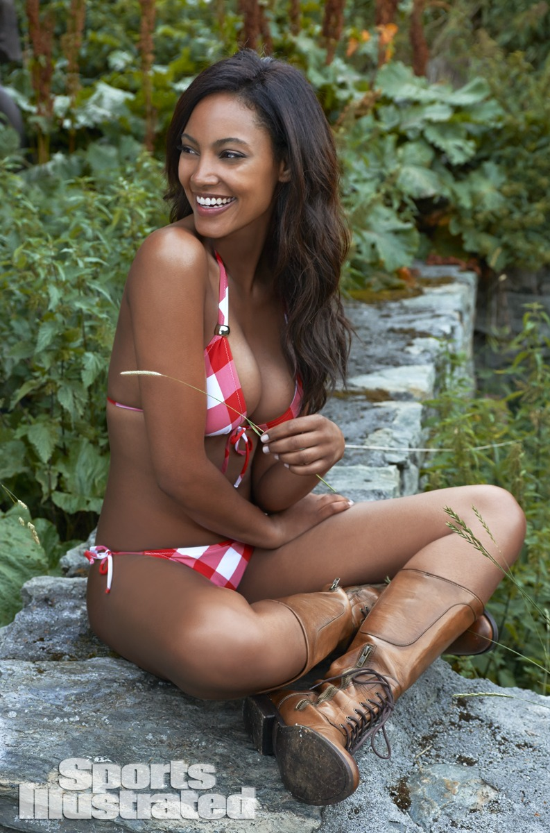 Ariel Meredith was photographed by Yu Tsai in Switzerland. Swimsuit by DELFINA.