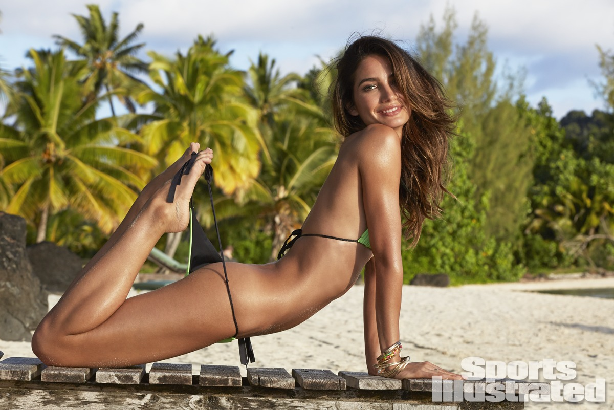 Lily Aldridge was photographed by James Macari in the Cook Islands. Swimsuit by Basta Surf.