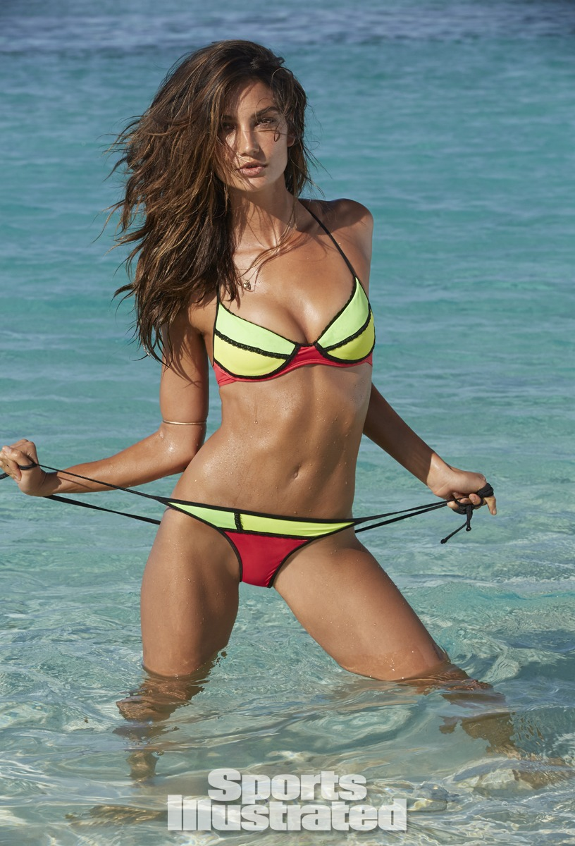 Lily Aldridge was photographed by James Macari in the Cook Islands. Swimsuit by Maui Girl by Debbie Wilson.