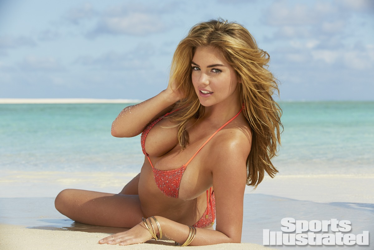 Kate Upton was photographed by James Macari in the Cook Islands. Swimsuit by Eberjey.