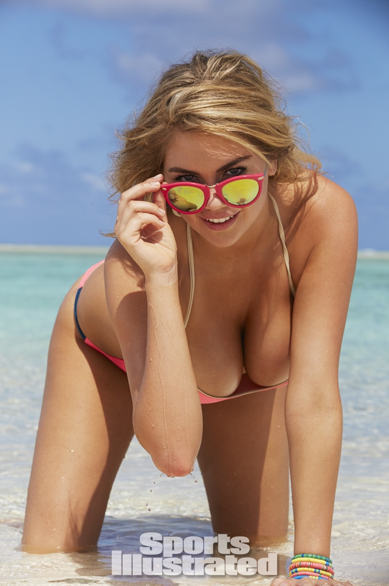 Kate Upton was photographed by James Macari in the Cook Islands. Swimsuit by Basta Surf.