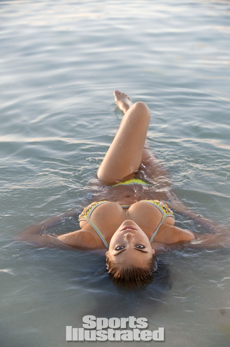 Kate Upton was photographed by James Macari in the Cook Islands. Swimsuit by Vanda Catucci.