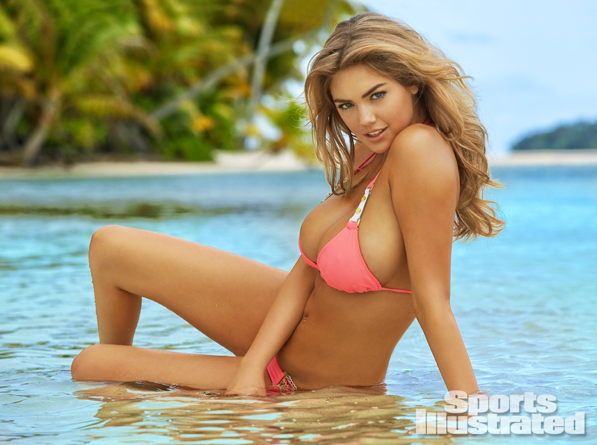 Kate Upton was photographed by James Macari in the Cook Islands. Swimsuit by Beach Bunny Swimwear.